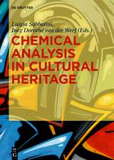 Chemical Analysis in Cultural Heritage