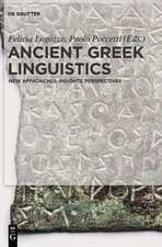 Ancient Greek Linguistics