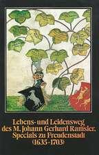 Lebens- und Leidensweg des M. Johann Gerhard Ramsler, Specials zu Freudenstadt