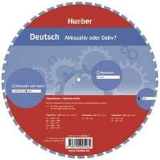 Wheel. Deutsch Akkusativ oder Dativ? Sprachdrehscheibe