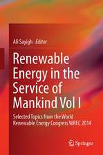 Renewable Energy in the Service of Mankind Vol I: Selected Topics from the World Renewable Energy Congress WREC 2014