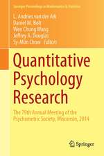 Quantitative Psychology Research: The 79th Annual Meeting of the Psychometric Society, Madison, Wisconsin, 2014