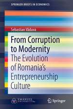 From Corruption to Modernity: The Evolution of Romania's Entrepreneurship Culture
