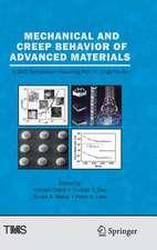 Mechanical and Creep Behavior of Advanced Materials: A SMD Symposium Honoring Professor K. Linga Murty