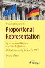Proportional Representation: Apportionment Methods and Their Applications