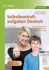 Selbstkontrollaufgaben Deutsch  3.-4. Klasse