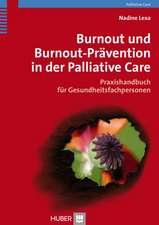 Burnout und Bournout-Prävention in der Palliative Care