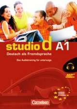 studio d. Grundstufe. Gesamtband 1 (Einheit 1-12). Audiotrainer. Europäischer Referenzrahmen: A1