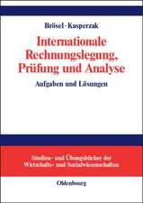 Internationale Rechnungslegung, Prüfung und Analyse: Aufgaben und Lösungen