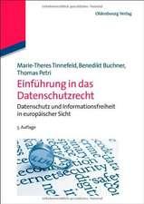 Einführung in das Datenschutzrecht: Datenschutz und Informationsfreiheit in europäischer Sicht