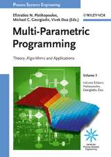 Multi–Parametric Programming: Theory, Algorithms and Applications