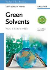Green Solvents: Reactions in Water