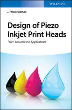 Design of Piezo Inkjet Print Heads: From Acoustics to Applications