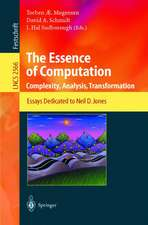The Essence of Computation: Complexity, Analysis, Transformation. Essays Dedicated to Neil D. Jones