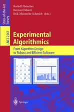 Experimental Algorithmics: From Algorithm Design to Robust and Efficient Software