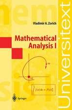 Zorich, V: Mathematical Analysis I