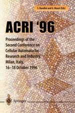 ACRI '96: Proceedings of the Second Conference on Cellular Automata for Research and Industry, Milan, Italy, 16–18 October 1996