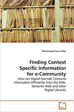 Finding Context Specific Information for e-Community