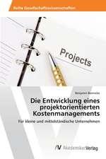 Die Entwicklung eines projektorientierten Kostenmanagements