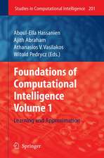 Foundations of Computational Intelligence: Volume 1: Learning and Approximation