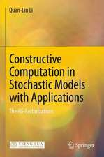 Constructive Computation in Stochastic Models with Applications: The RG-Factorizations
