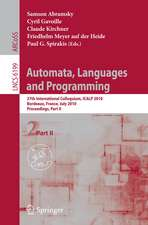 Automata, Languages and Programming: 37th International Colloquium, ICALP 2010, Bordeaux, France, July 6-10, 2010, Proceedings, Part II