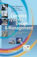 Complex Systems Design & Management: Proceedings of the Second International Conference on Complex Systems Design & Management CSDM 2011