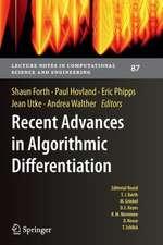 Recent Advances in Algorithmic Differentiation