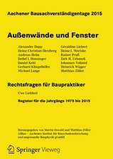 Aachener Bausachverständigentage 2015: Außenwände und Fenster