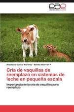 Cria de Vaquillas de Reemplazo En Sistemas de Leche En Pequena Escala:  Estudio de Egresados