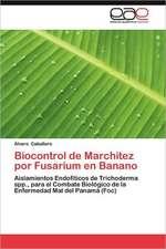 Biocontrol de Marchitez Por Fusarium En Banano:  Alternativa Para El Control de Fitopatogenos