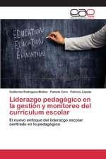 Liderazgo Pedagogico En La Gestion y Monitoreo del Curriculum Escolar