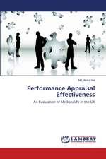 Performance Appraisal Effectiveness