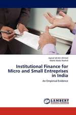 Institutional Finance for Micro and Small Entreprises in India