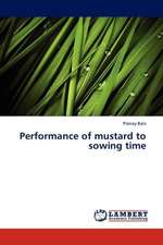 Performance of mustard to sowing time