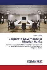 Corporate Governance in Nigerian Banks