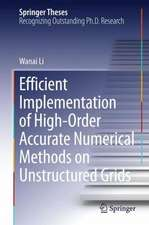 Efficient Implementation of High-Order Accurate Numerical Methods on Unstructured Grids