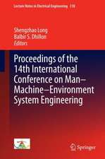 Proceedings of the 14th International Conference on Man-Machine-Environment System Engineering