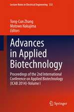 Advances in Applied Biotechnology: Proceedings of the 2nd International Conference on Applied Biotechnology (ICAB 2014)-Volume I