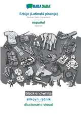 BABADADA black-and-white, Srbija (Latinski pisanje) - español, slikovni recnik - diccionario visual