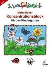 Mein dicker Konzentrationsblock für den Kindergarten