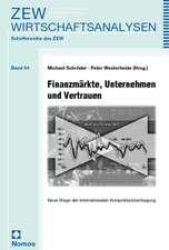 Finanzmärkte, Unternehmen und Vertrauen