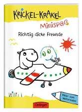 Krickel-Krakel-Minispaß: Richtig dicke Freunde. Bilder zum Weitermalen