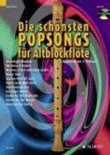Die schönsten Popsongs für Altblockflöte 1