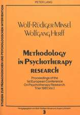 Methodology in Psychotherapy Research