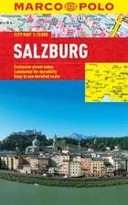 Salzburg Marco Polo Laminated City Map