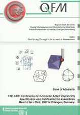 Book of Abstracts - 10th CIRP Conference on Computer Aided Tolerancing, Specification and Verification for Assemblies