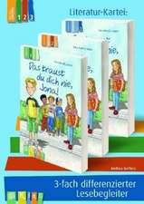 """KidS Literatur-Kartei:  """"Das traust du dich nie, Jona!"""" 3-fach differenzierter Lesebegleiter"""