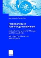 Praxishandbuch Forderungsmanagement: Juristisches Know-how für Manager und Führungskräfte Mit vielen Praxishinweisen und Beispielen