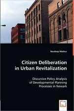 Citizen Deliberation in Urban Revitalization